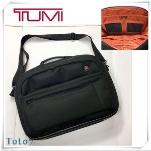 TUMI Tech Laptop Shoulder Straps Bag Black Nylon